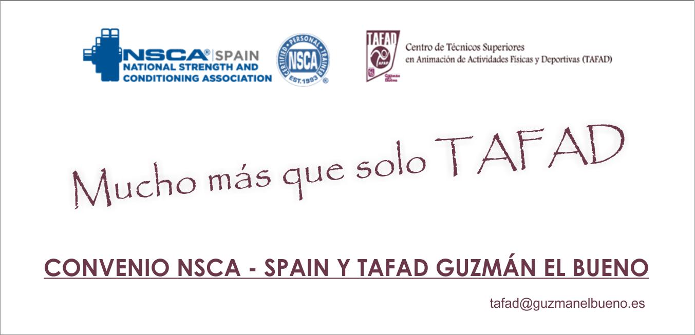 Convenio NSCA – SPAIN y TAFAD Guzmán el Bueno