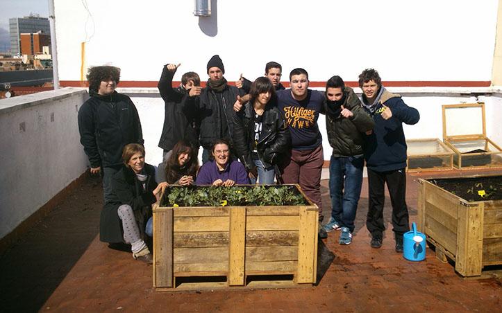 La huerta del Colegio Guzmán el Bueno