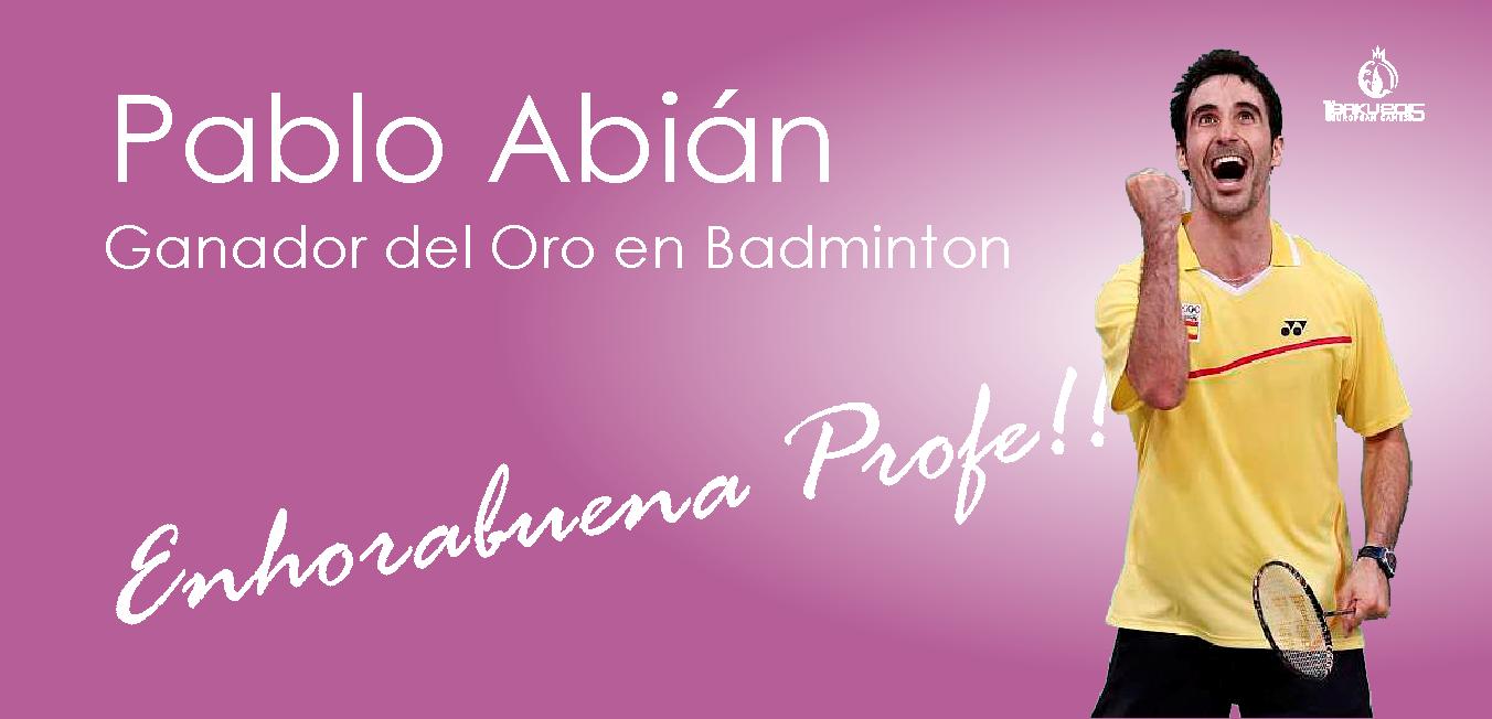 Pablo Abián ganador del Oro en Badminton Baku 2015