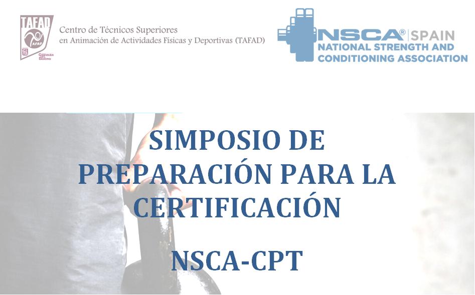 I Simposio de preparación certificación NSCA – CPT en TAFAD Guzman el Bueno